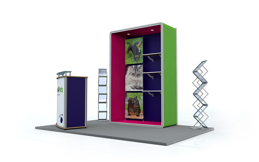 Exhibition Stand Accessories : Linear exhibition stand exhibition display system fabric