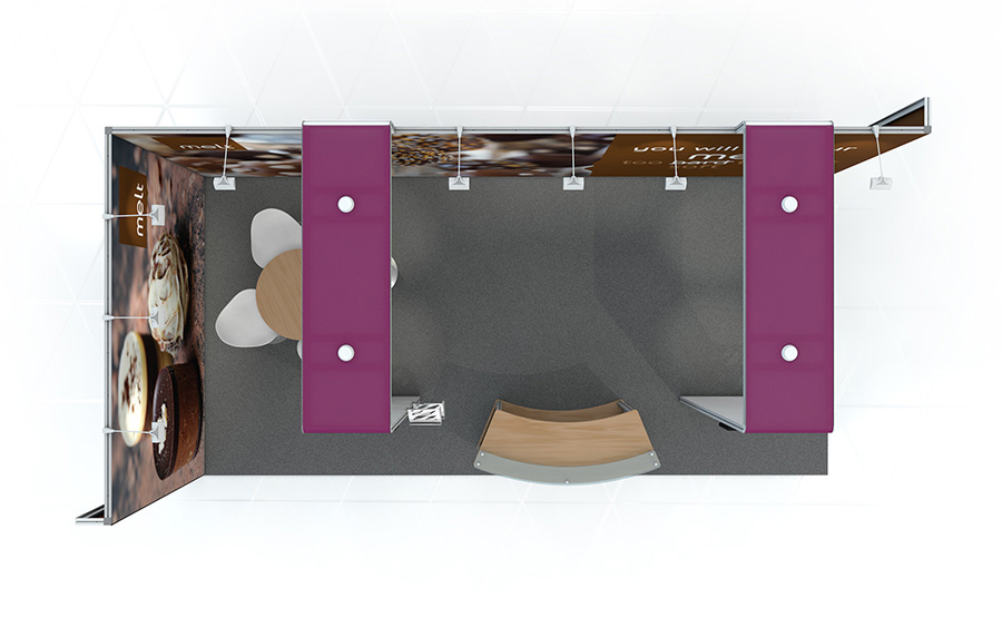 Modular Exhibition Stands Yard : Linear l shaped with arches vector exhibition stand linear vector