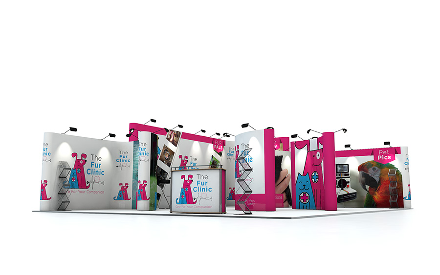 Linked Pop Up Exhibition Stand 10m x 8m