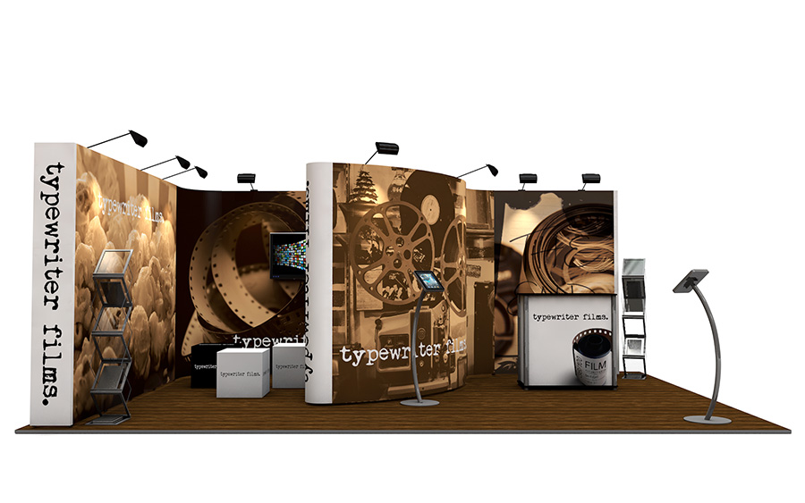 4m x 6m Linked Pop Up Exhibition Stand