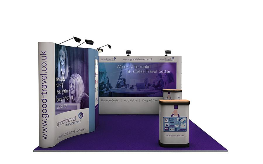 Corner Exhibition Stands Care : Linked pop up exhibition stand m m pop up display stand uk