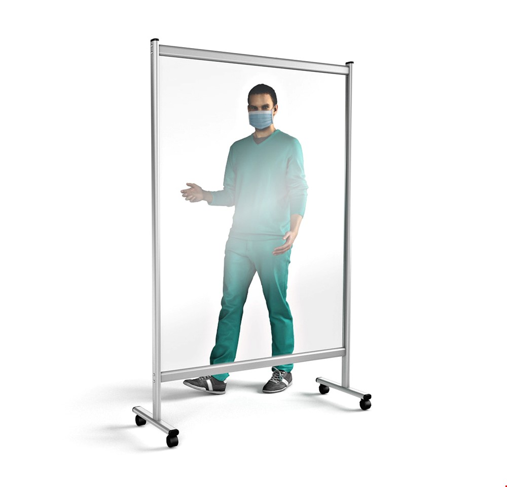PREMIUM Mobile Perspex Divider Medical Screen