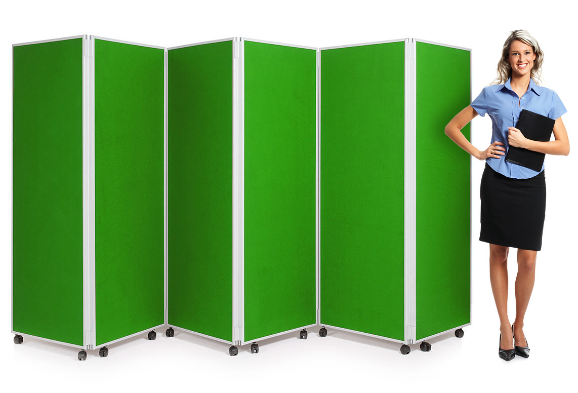 6 Panel Mobile Concertina Screen Room Divider