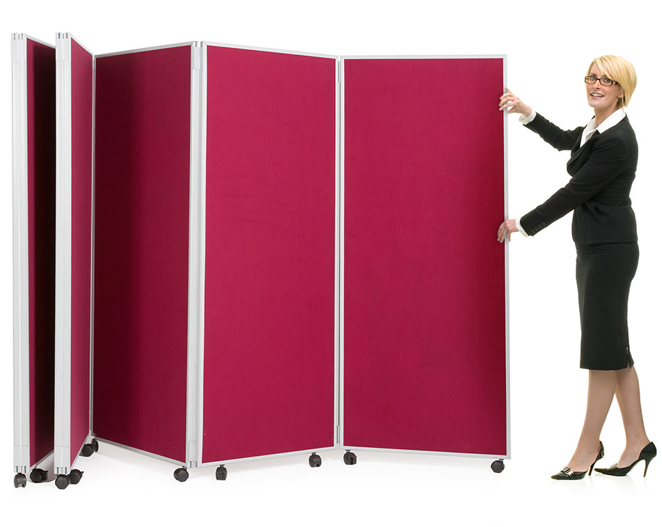 5 Panel Mobile Concertina Screen Room Divider