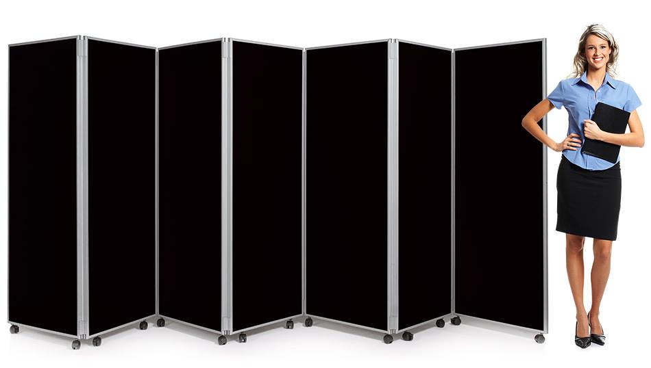 7 Panel Mobile Concertina Screen Room Divider