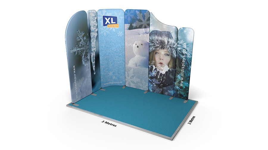 Modulate™ 3m x 2m Sloped L-Shaped Display Stand