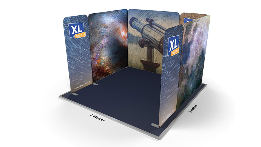 Modulate™ 3m x 3m U-Shaped Fabric Display Stand