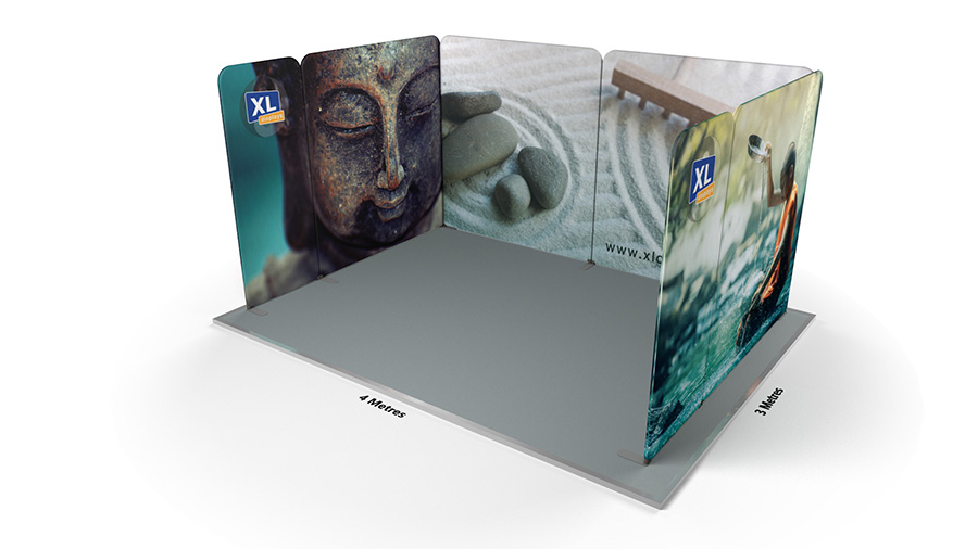 Modulate™ 3m x 4m U-Shaped Tensioned Fabric Display Stand
