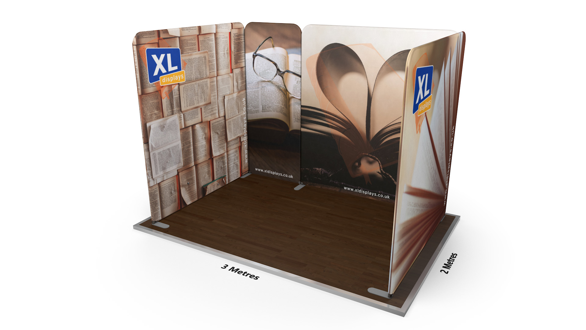 Modulate™ 3m x 2m U-Shaped Fabric Display Stand