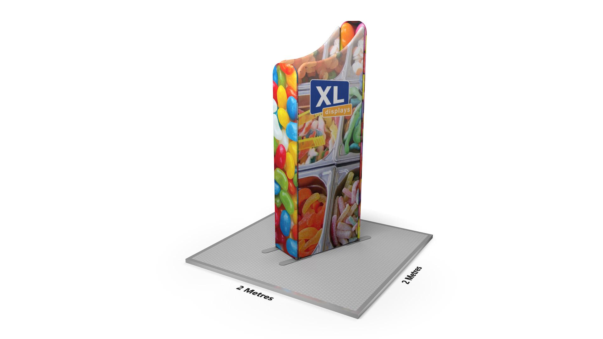 Modulate<sup>™</sup> 2m Retail Island Fabric Display