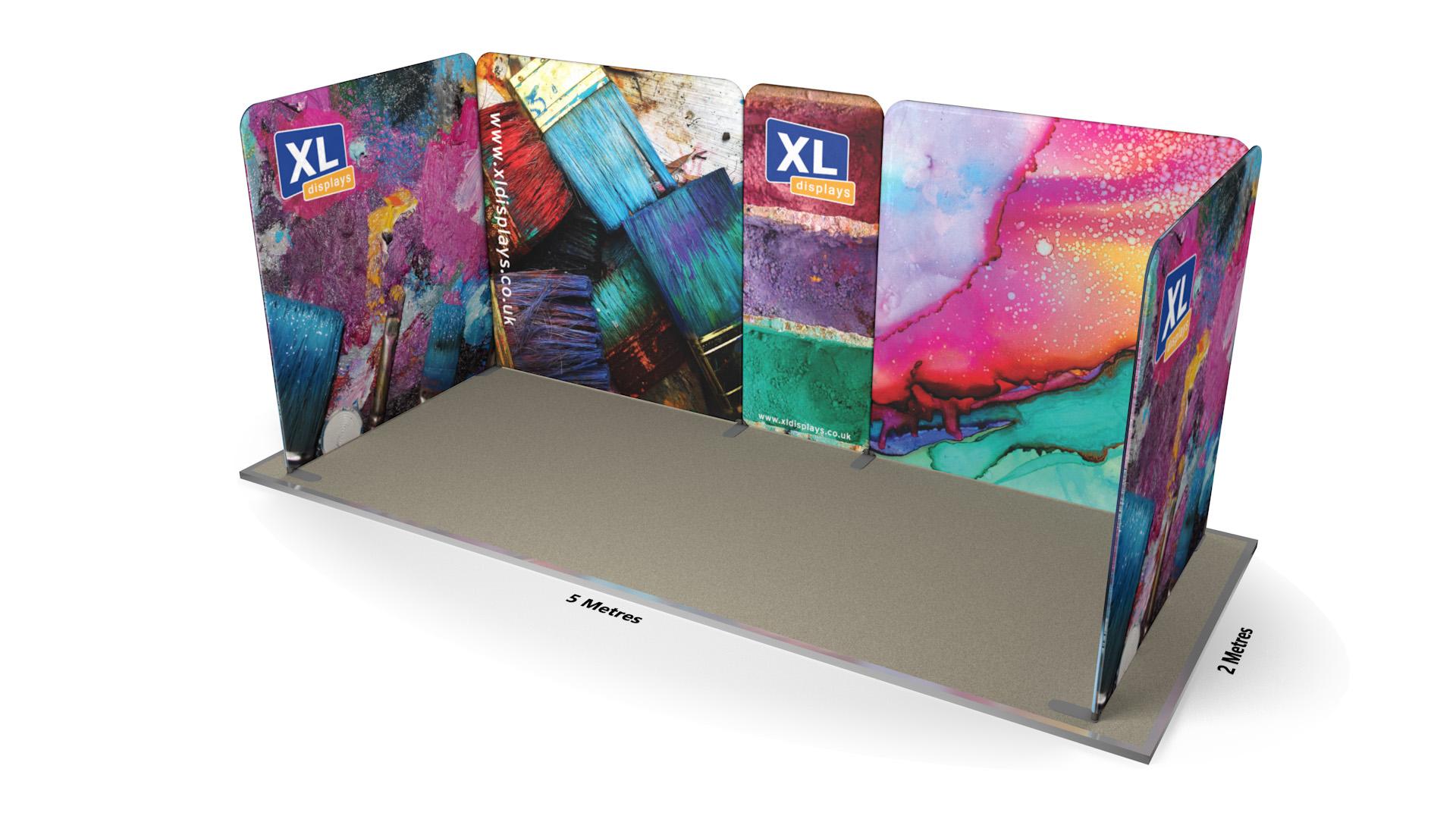 Modulate<sup>™</sup> 5m x 2m U-Shaped Fabric Booth