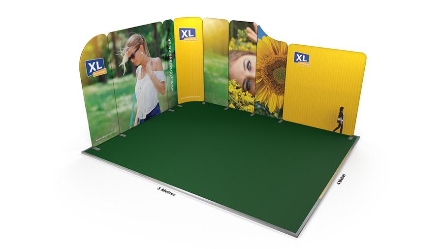 Modulate<sup>™</sup> 5m x 4m L-Shaped Stretch Fabric Backwall