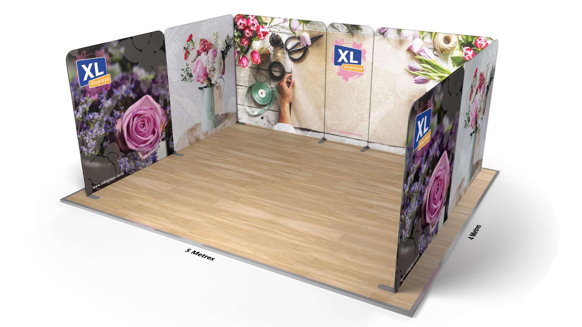 Modulate<sup>™</sup> 5m x 4m U-Shaped Stretch Fabric Displays