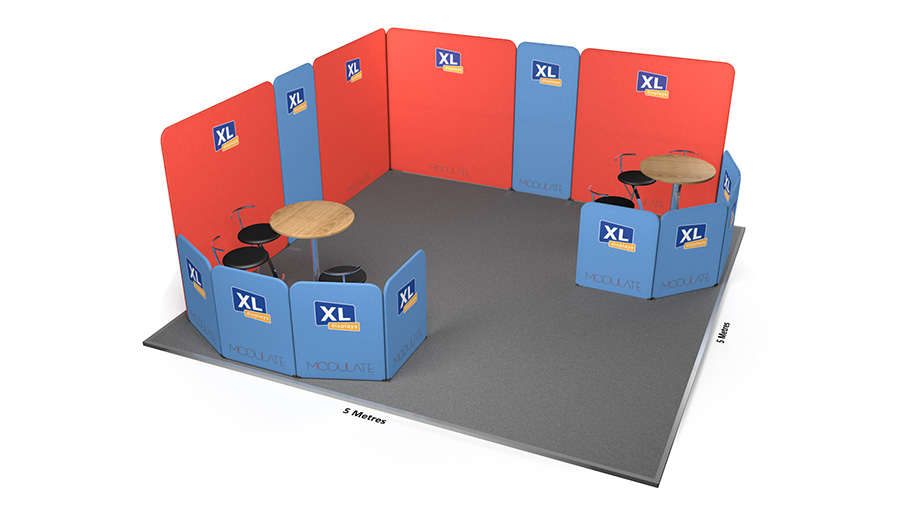 Modulate<sup>™</sup> 5m x 5m Printed Fabric Exhibition Stand