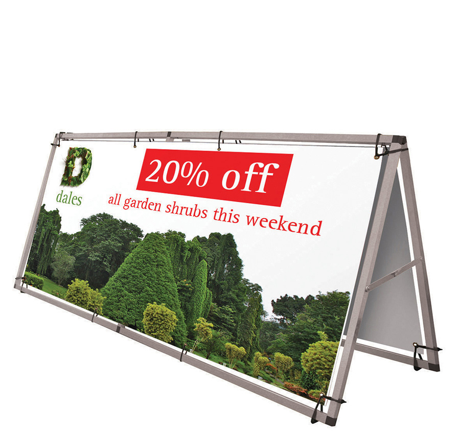 Monsoon Outdoor Banner With Aluminium Frame