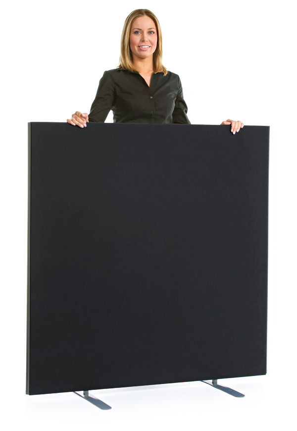 Speedy Office Screens 1200mm High Partition Black