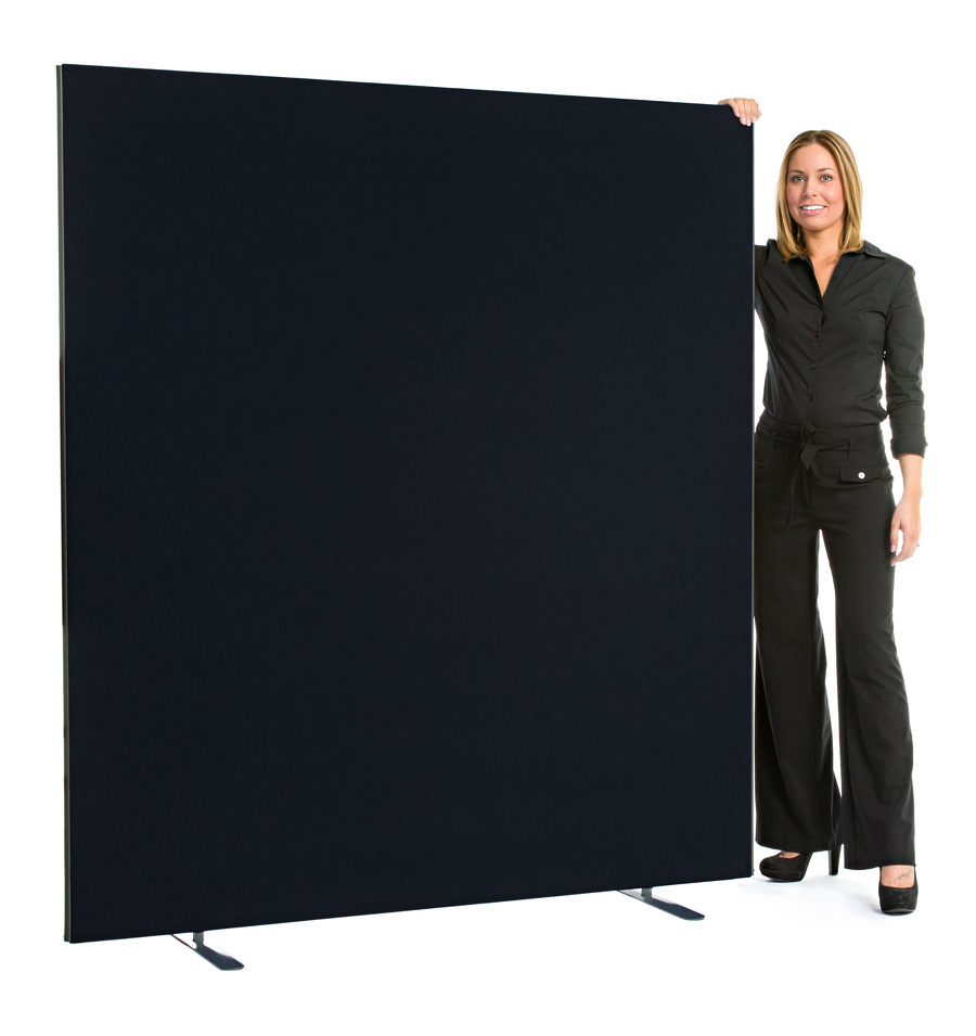 Speedy Office Screens 1800mm High Partition Black