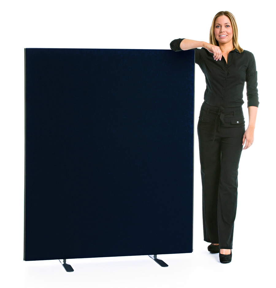 Speedy Office Screens 1400mm High Partition Black