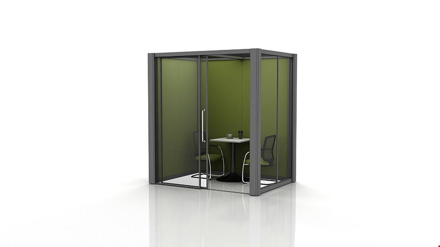 2m x 1.5m Office Meeting Pods With Glazed Partitions
