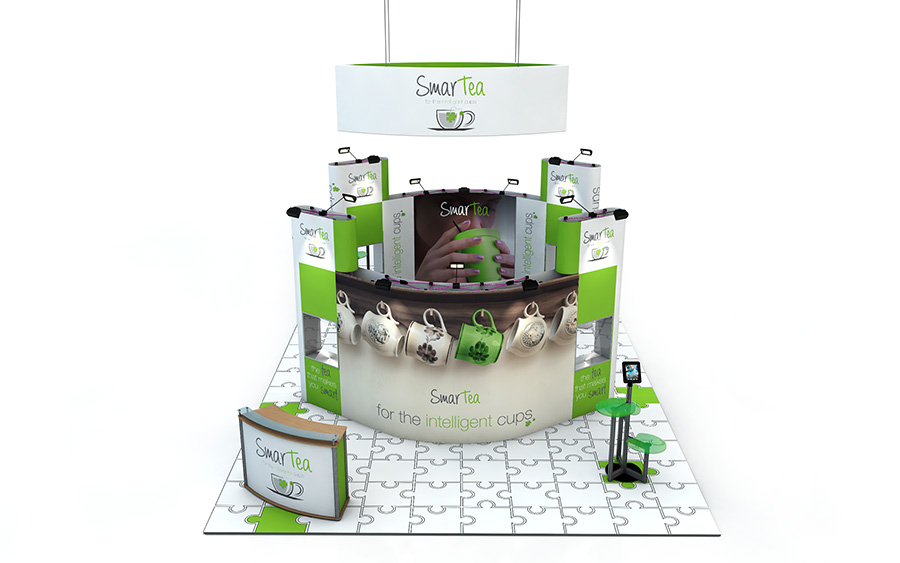 Pop Up Exhibition Stand Island 10m x 6m