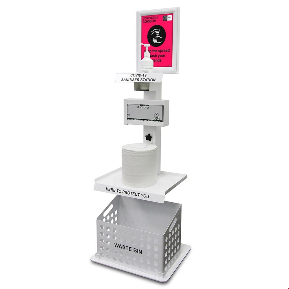 Premium Floor Standing Sanitiser And Hygiene Station