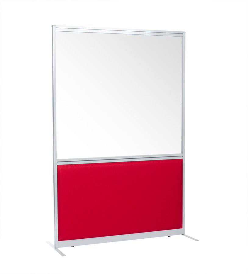Premium Acoustic Straight Part Glazed Office Screen