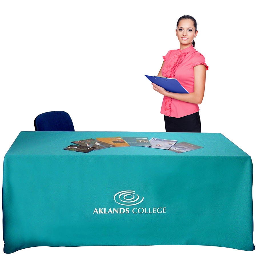Printed Table Cloths Exhibition Table Cloths With Logo Uk Made