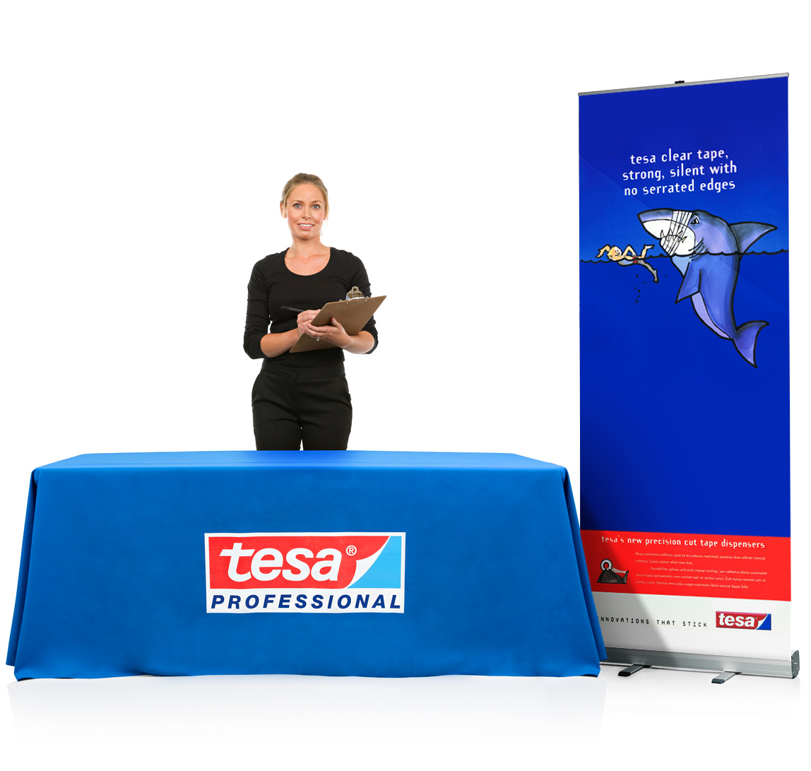 Printed Tablecloth With Banner Exhibition Stand Bundle