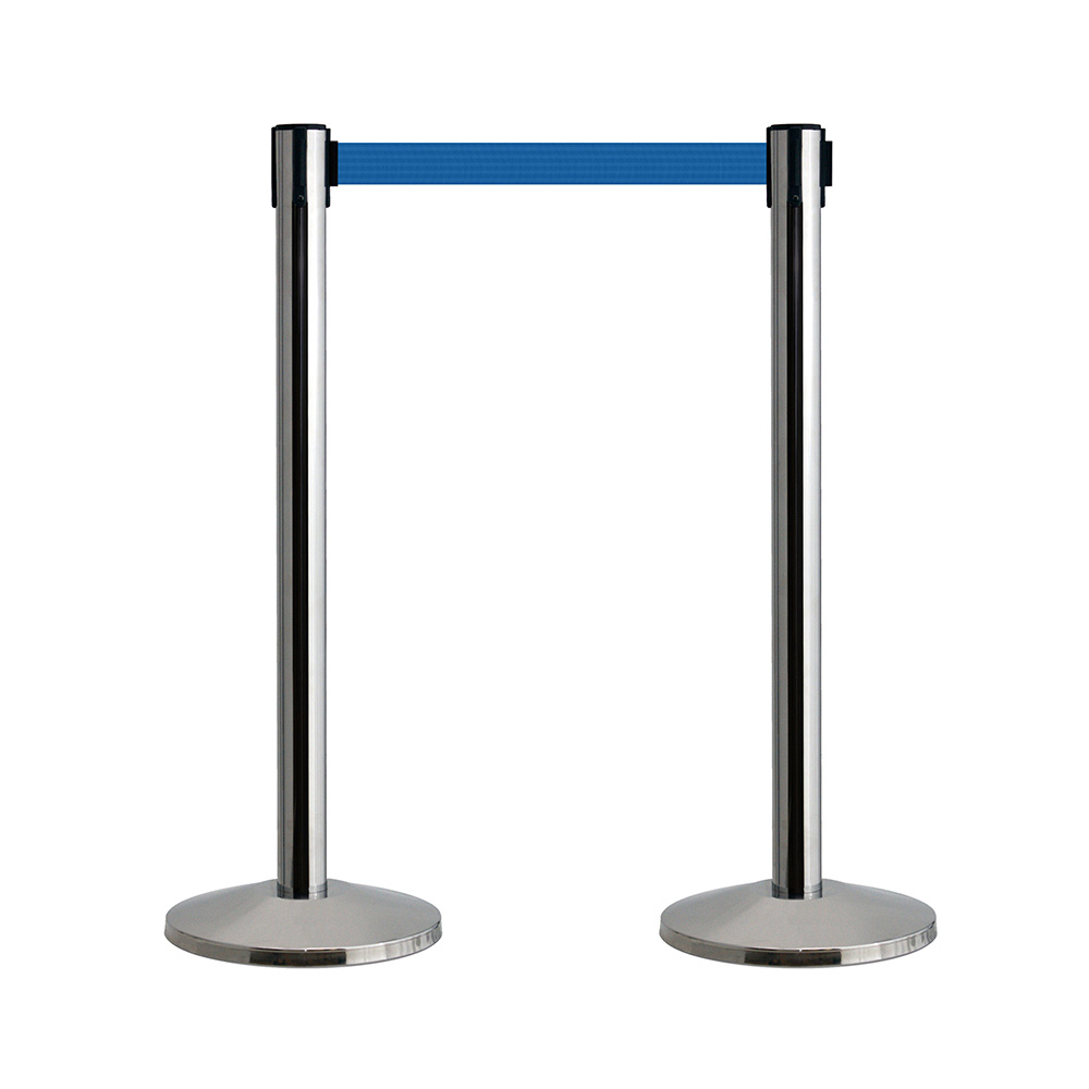 Queueway Retracting Belt Barrier Pair