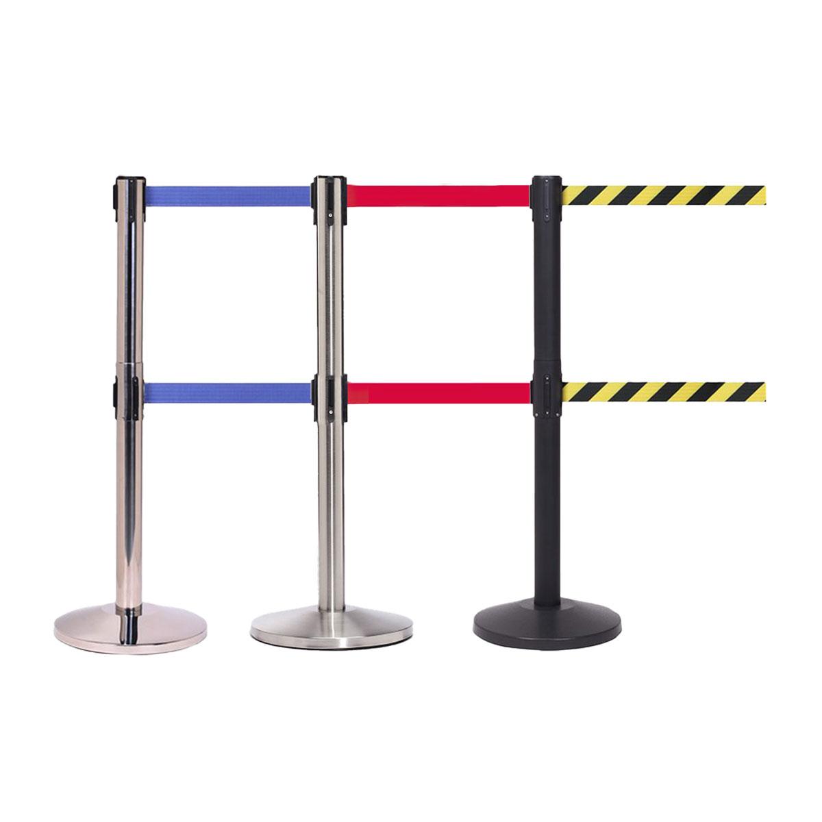 QueueMaster Twin Retractable Belt Barriers