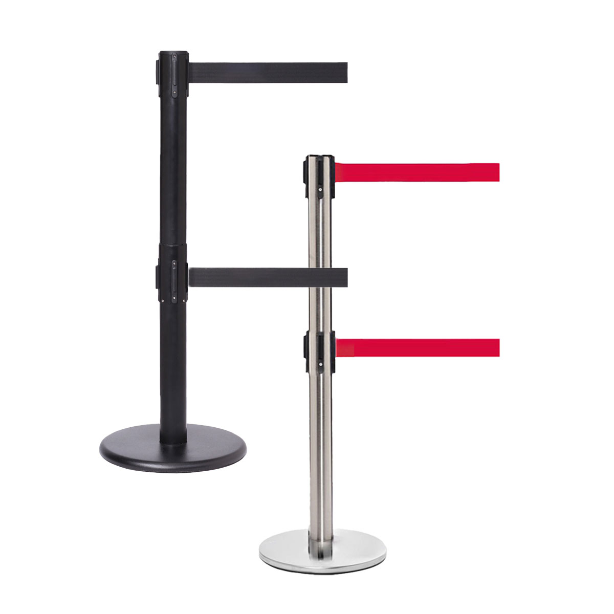 QueuePro Dual Retractable Queue Barriers