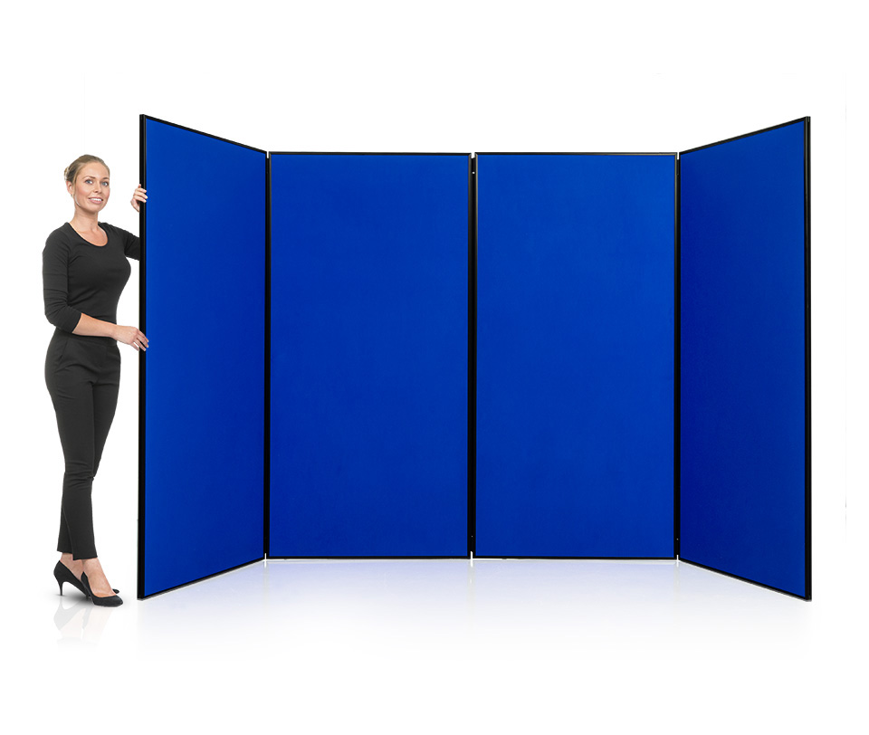 Jumbo Display Board System with 4 Large Folding Panels
