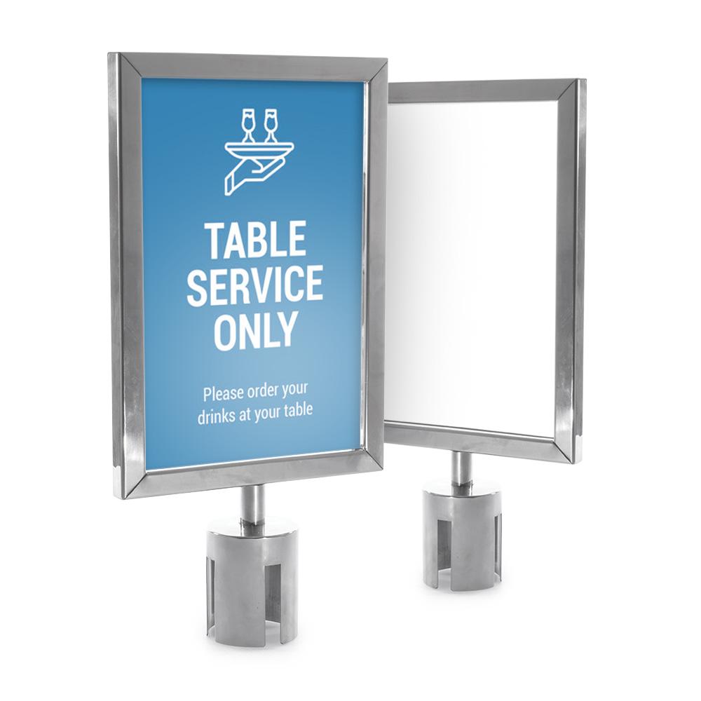 Retractable Barrier Stanchion Poster Frame Holder A4