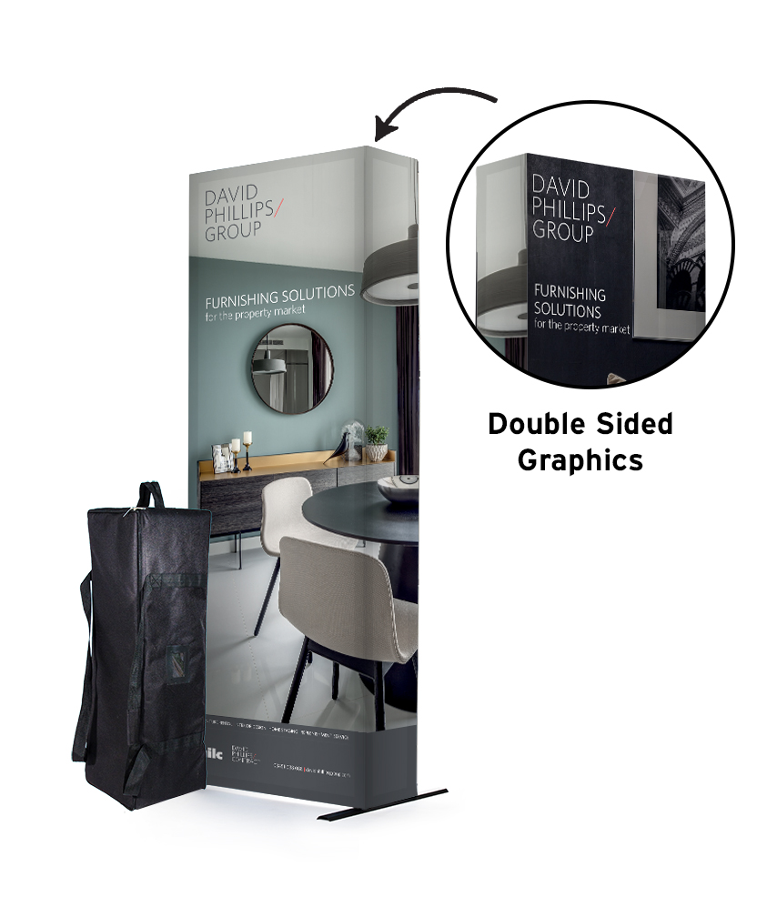 SEG 3x1 Fabric Exhibition Stand Double Sided