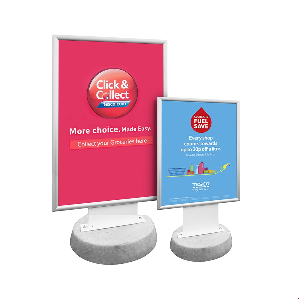 SIROCCO Concrete Base Permanent Outdoor Poster Display Sign