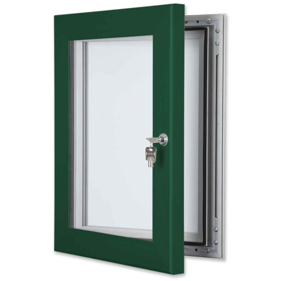Secure Lockable External Notice Board Coloured Frame