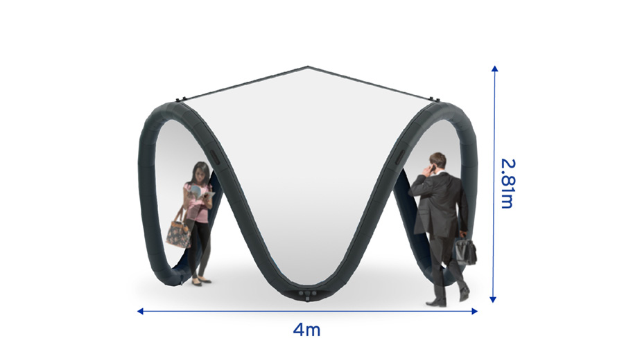Signus ONE Unbranded Inflatable Pavilion 4m