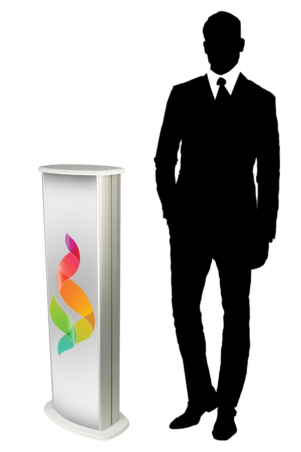 Slim Column Display Podium