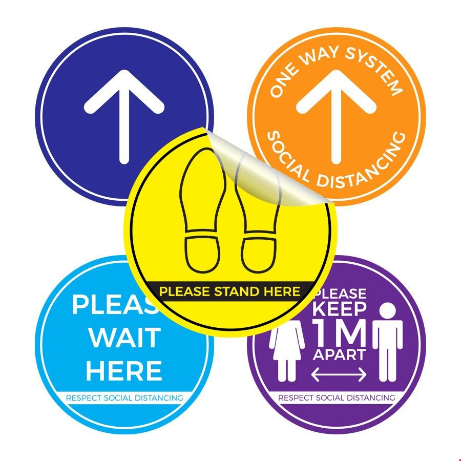 Circular Anti-Slip Floor Stickers