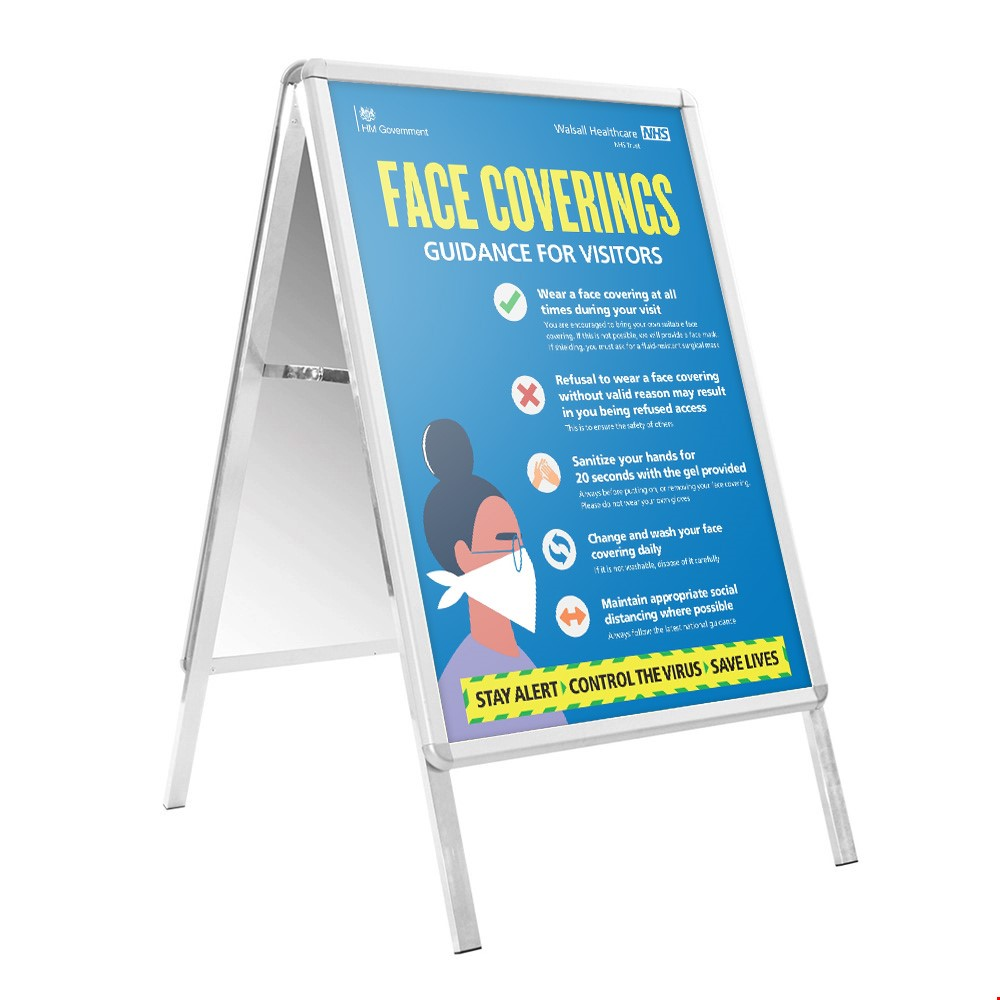 Social Distancing Poster A-Frame Sign