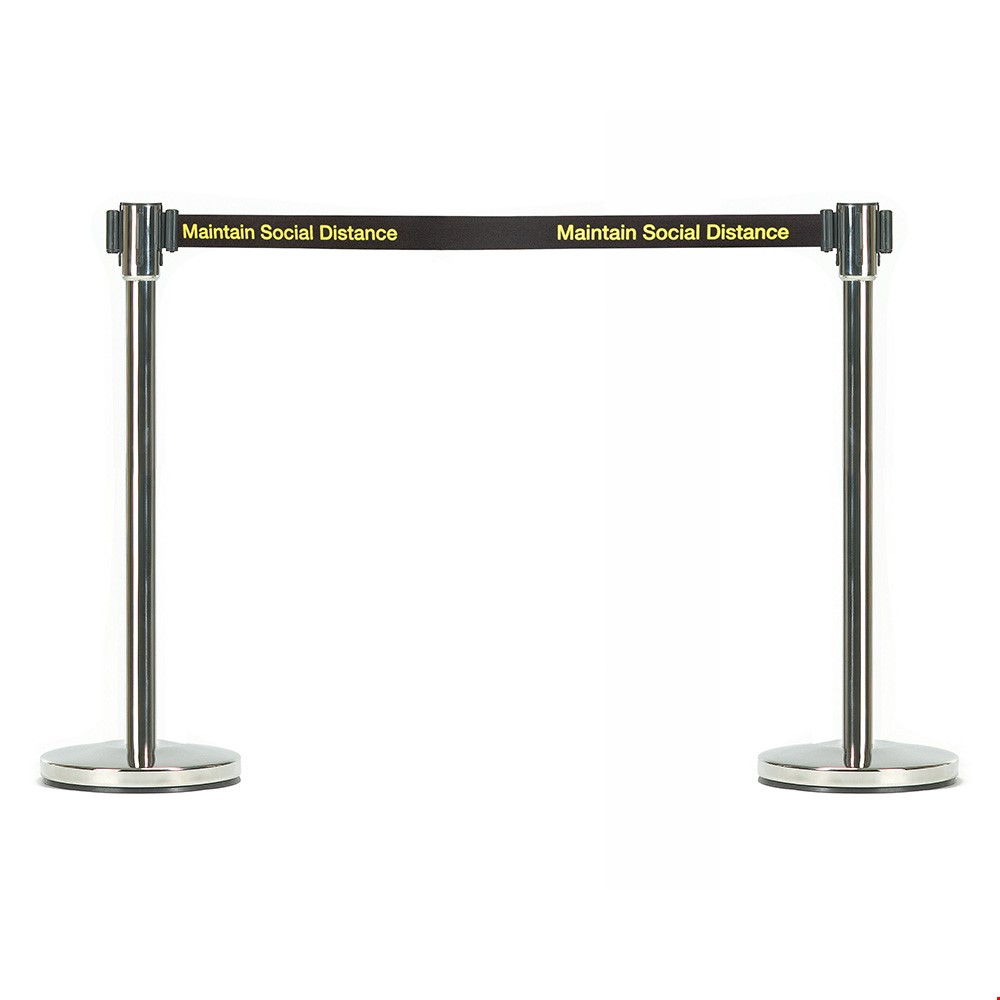Retractable Queue Barriers For Social Distancing