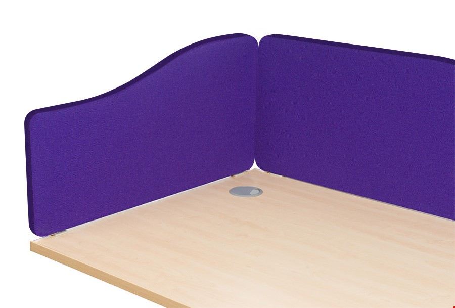 Spectrum Fabric Wave Office Desk Screen