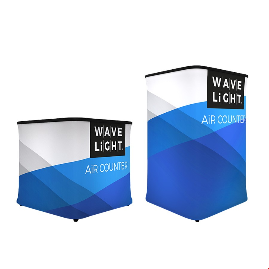 WaveLight Air Backlit Inflatable Exhibition Counters