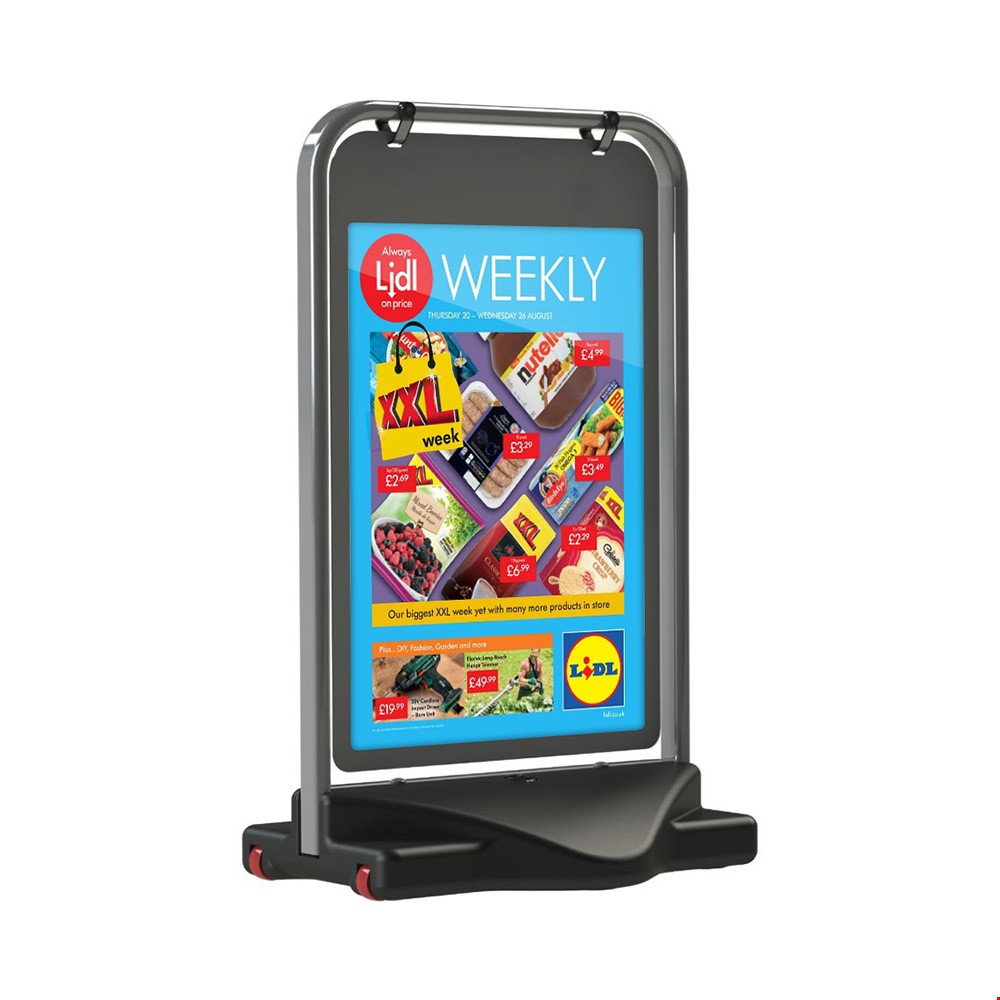 Swinging Poster Pavement Sign Board With Water Base