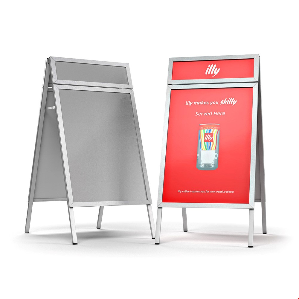 TACTICAL Pavement Sign A-Board With Snap Frame Poster Holders