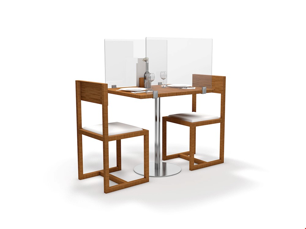 Table Divider Distancing Screen For Restaurants