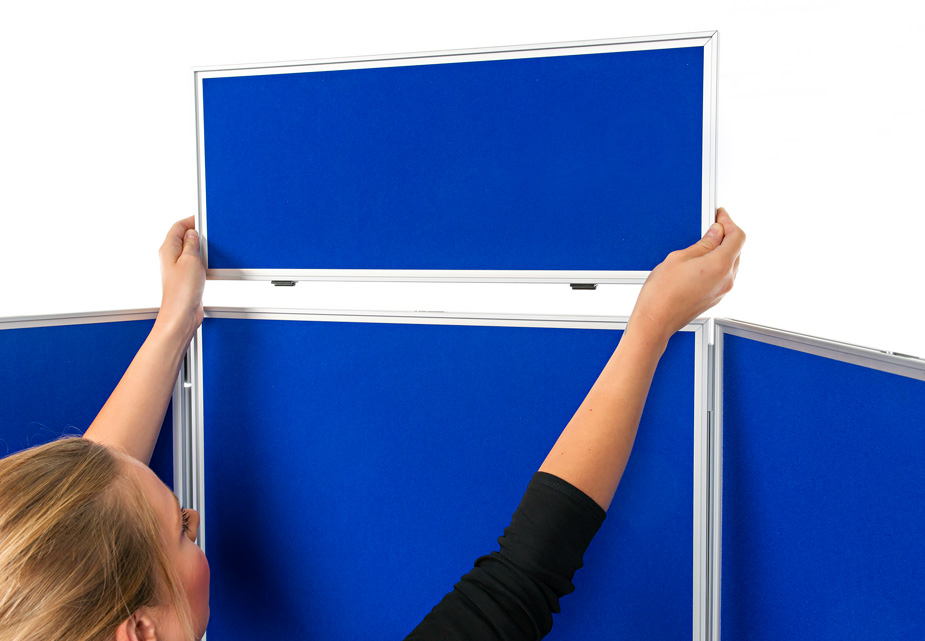 3 Panel Portrait Table Top Display Boards | Folding ...