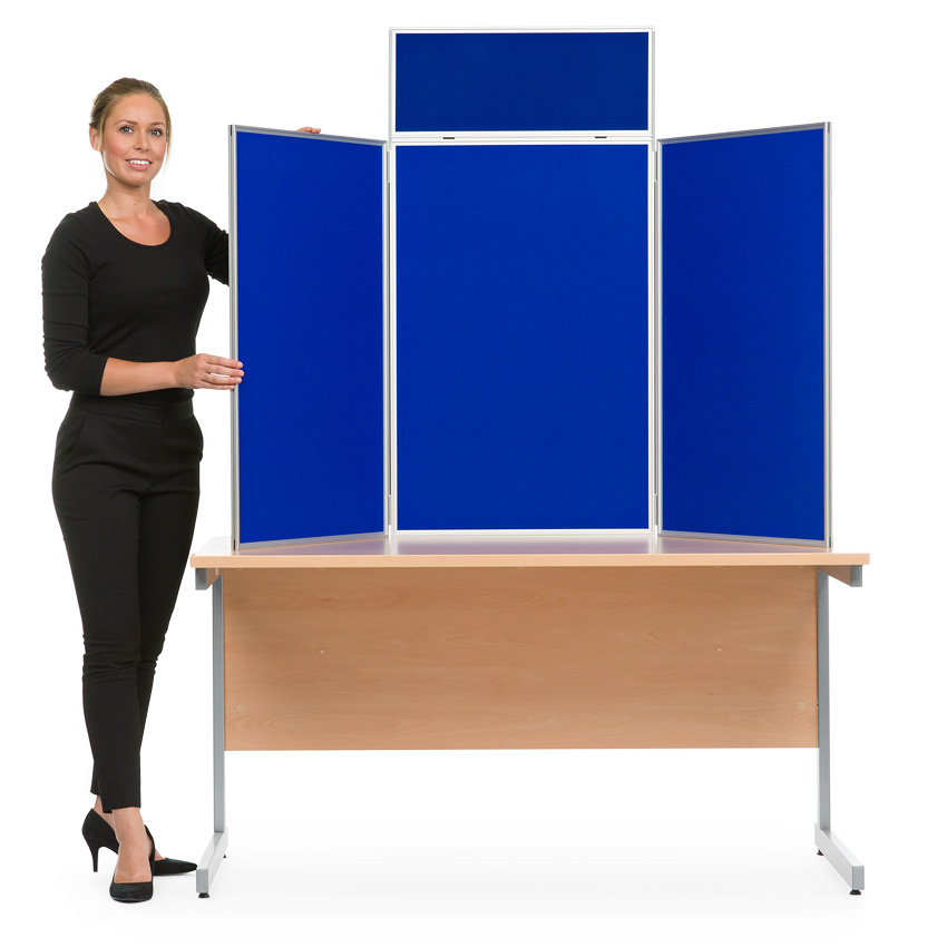 Tabletop Display Boards Aluminium Frame Portrait Panel