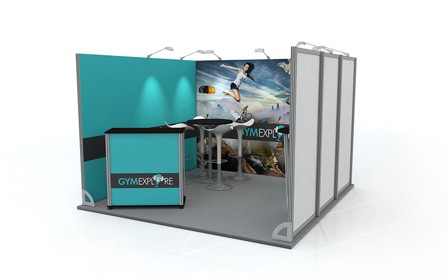 Exhibition Stand Accessories : Linear exhibition stand u shape linear vector exhibition