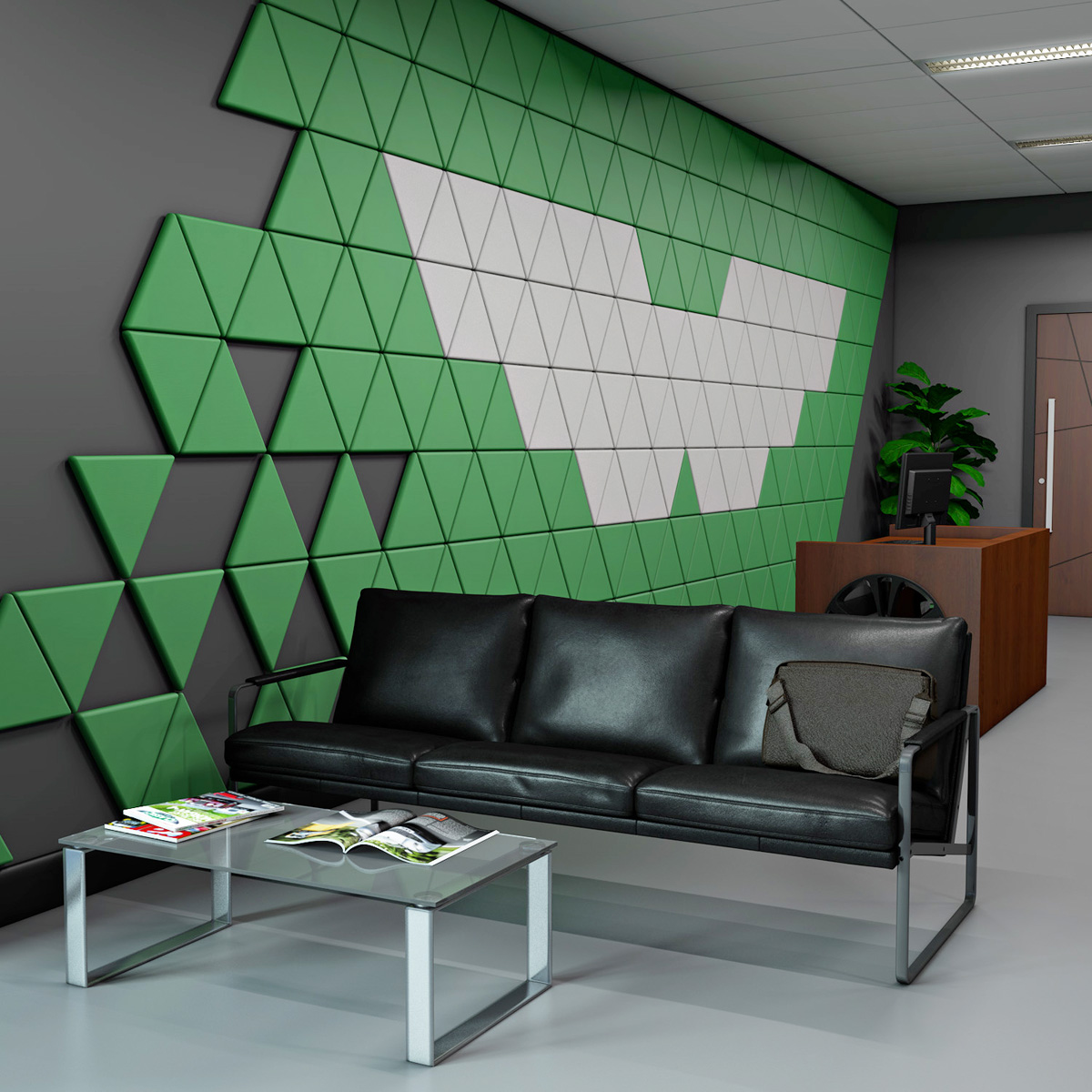VIRAGE<sup>™</sup> Triangular Acoustic Wall Soundproofing Panels